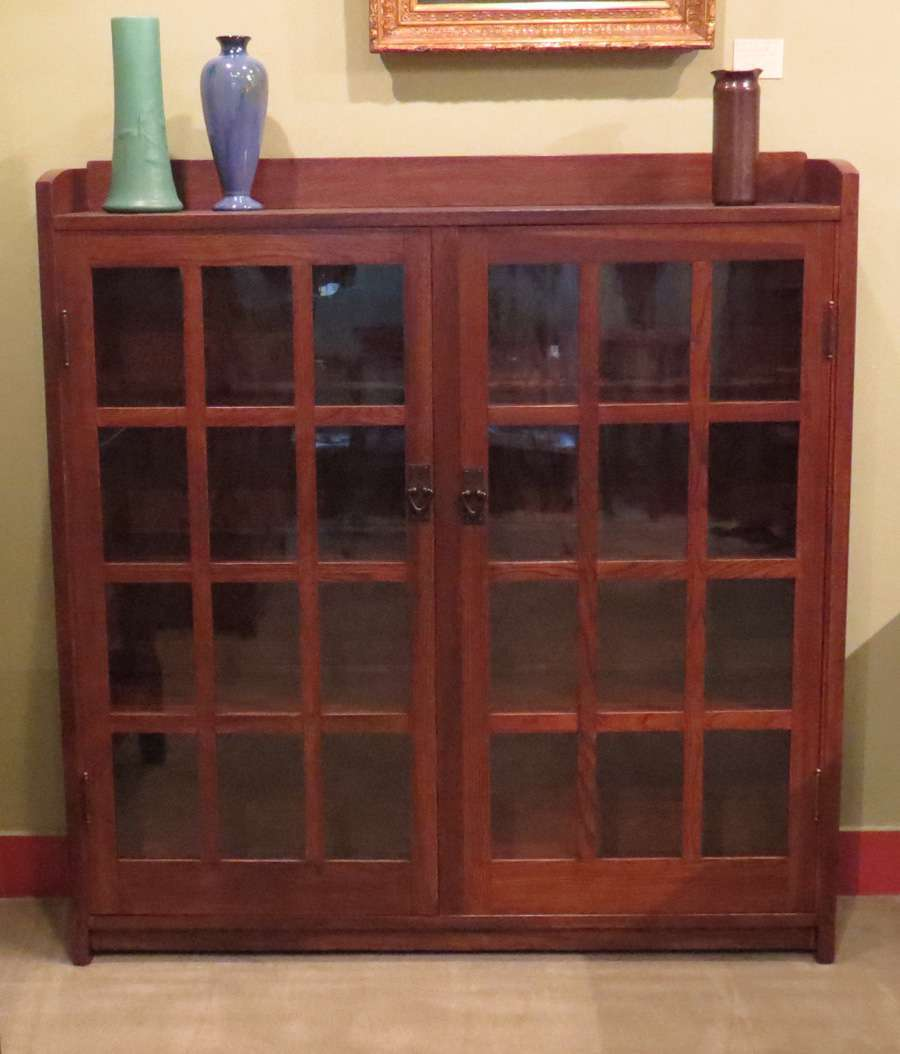 Gustav Stickley Furniture For Sale Gustav Stickley Two-Door Bookcase | California Historical Design