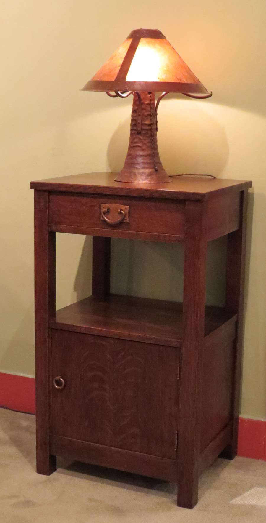 Design An Exhibition Stand : Extremely rare gustav stickley tall nightstand