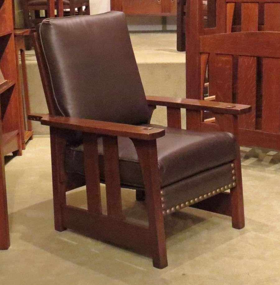 Mary Morris Chair Aerobics: Early Gustav Stickley Morris Chair #2341