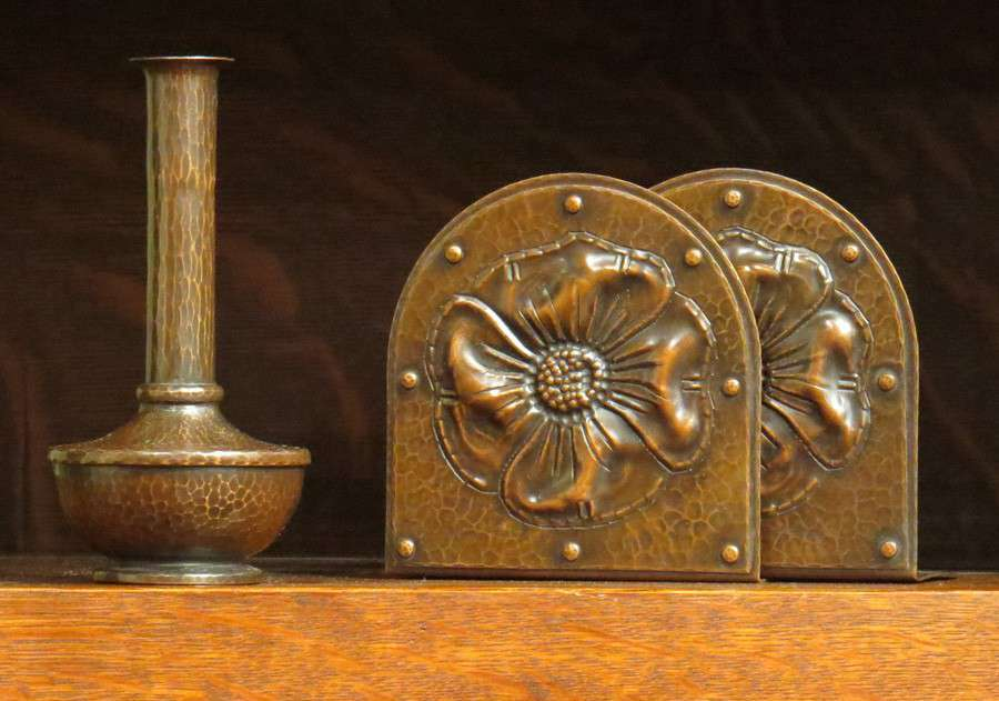 Roycroft American Beauty Vase Amp Pr Roycroft Hammered