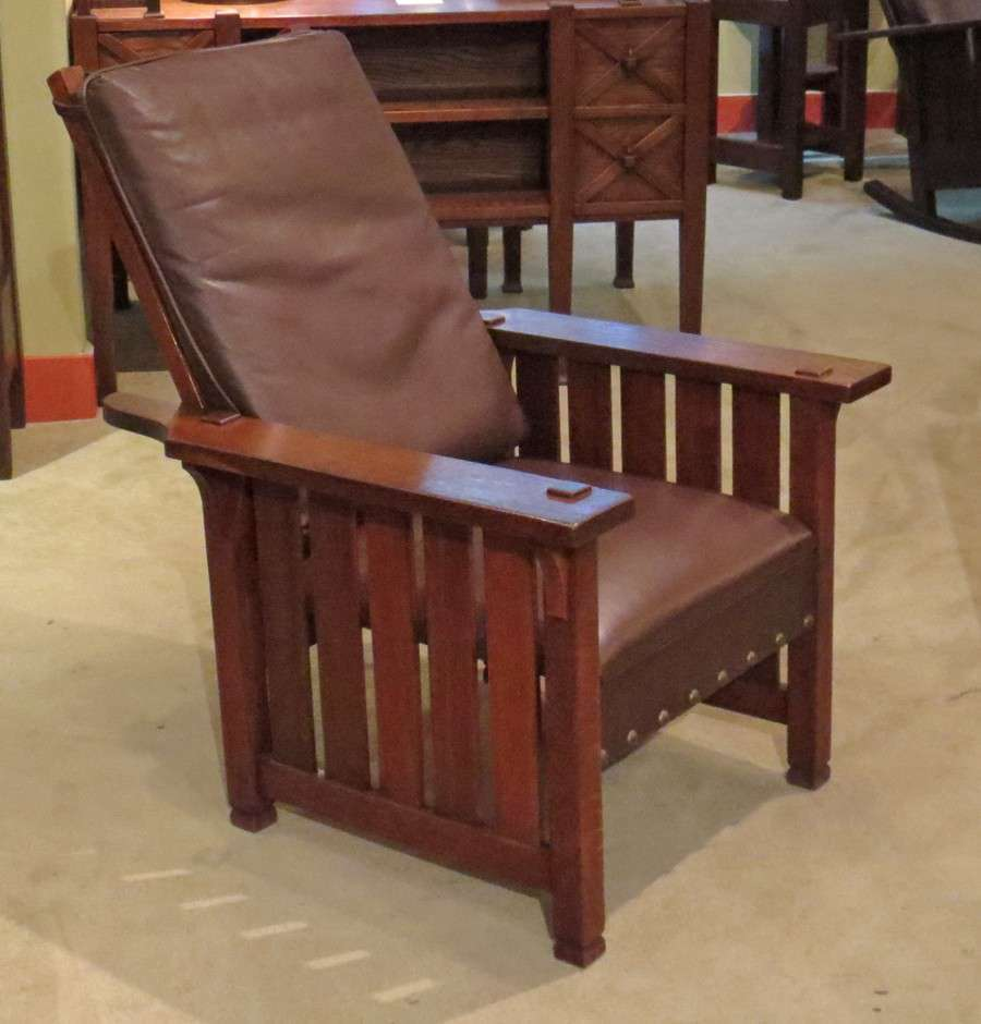 Mary Morris Chair Aerobics: Small L&JG Stickley Slatted Morris Chair