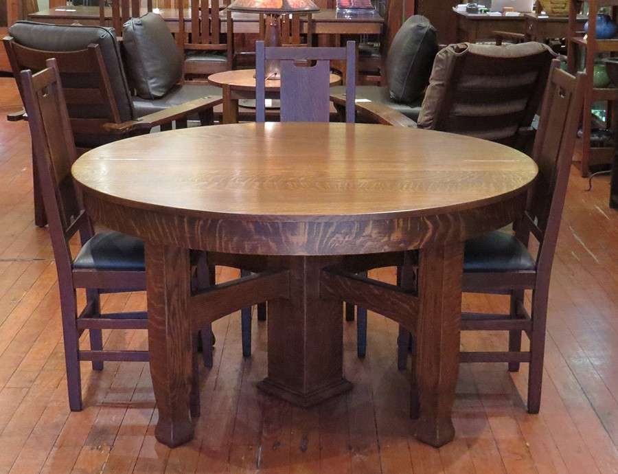 Grand Rapids 5 Leg Dining Table California Historical Design