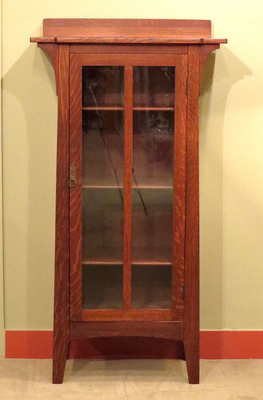 Limbert One Door Bookcase 57 Quot H X 27 5 Quot W X 14 Quot D California Historical Design