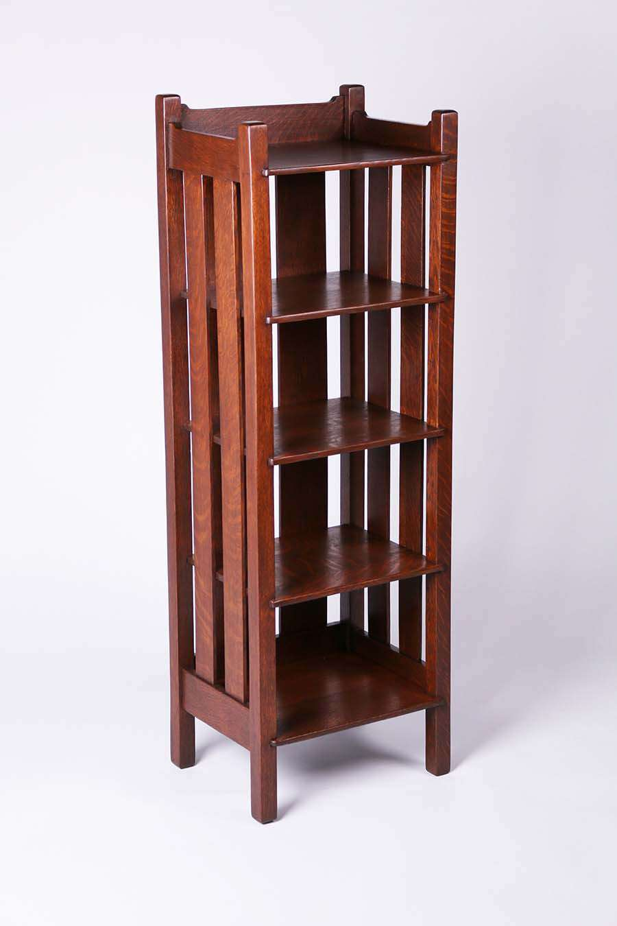 Stickley Brothers Tall Magazine Stand Bookshelf California Historical Design