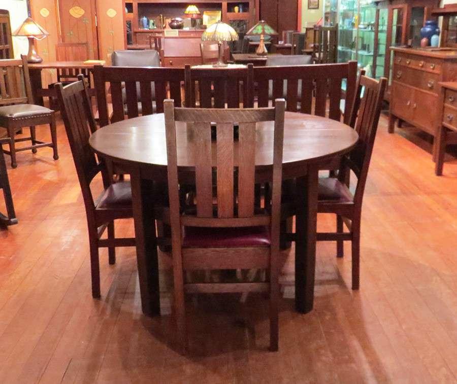 Stickley Dining Room: Set Of 4 Gustav Stickley Harvey Ellis Designed Dining