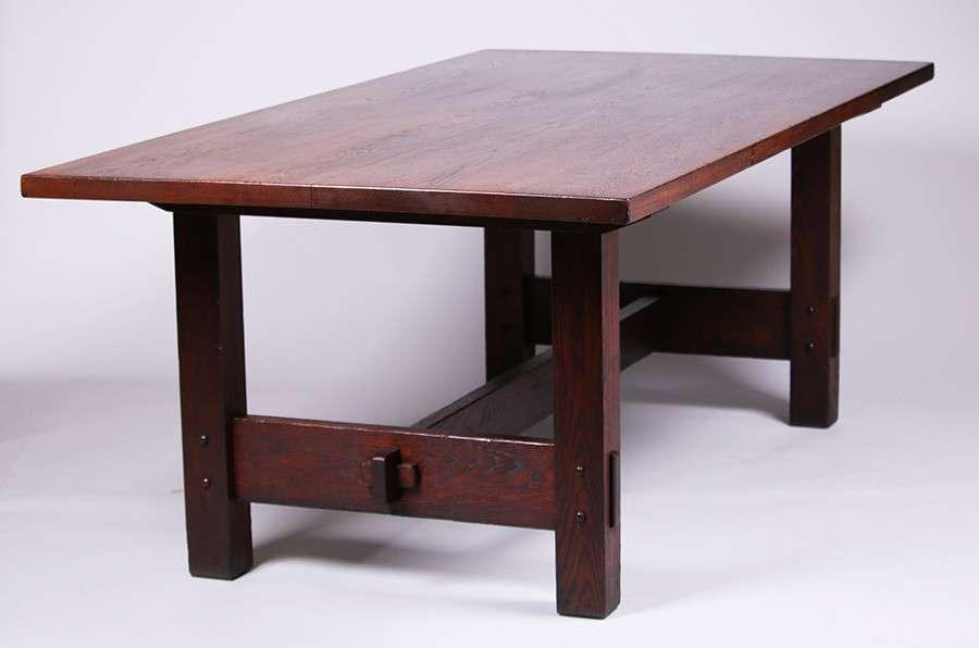 stickley dining room table | Rare Gustav Stickley Rectangular Dining Table | California ...