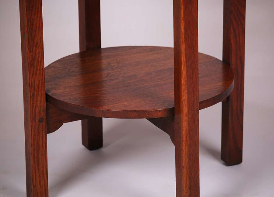 Charles Stickley Lamp Table California Historical Design