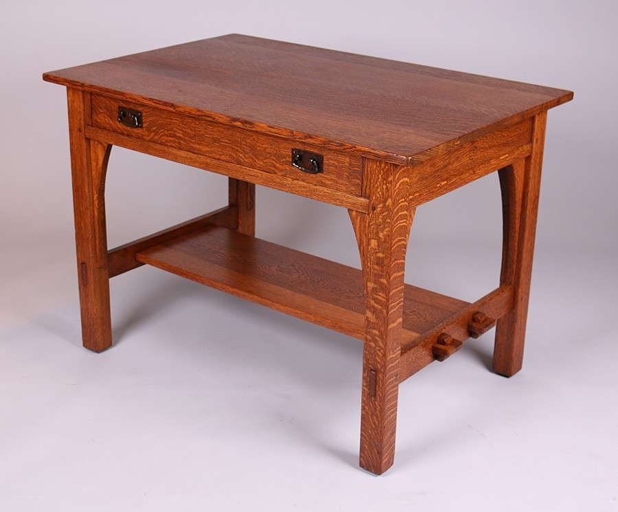 L Amp Jg Stickley One Drawer Library Table California