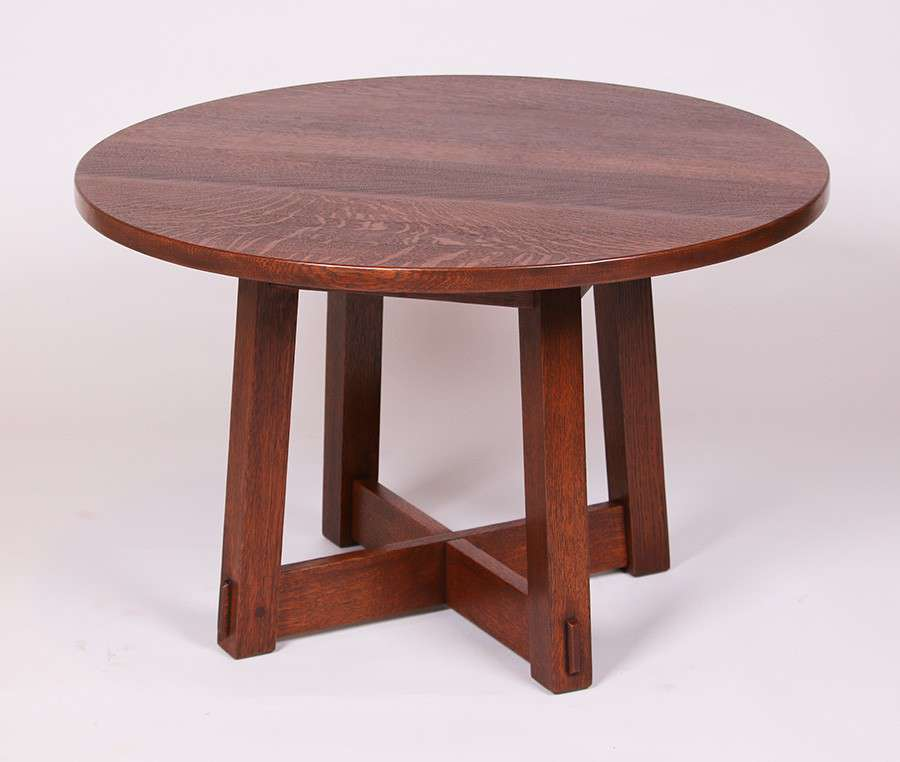 Art Van Coffee Table Sets: Stickley Brothers Round Coffee Table