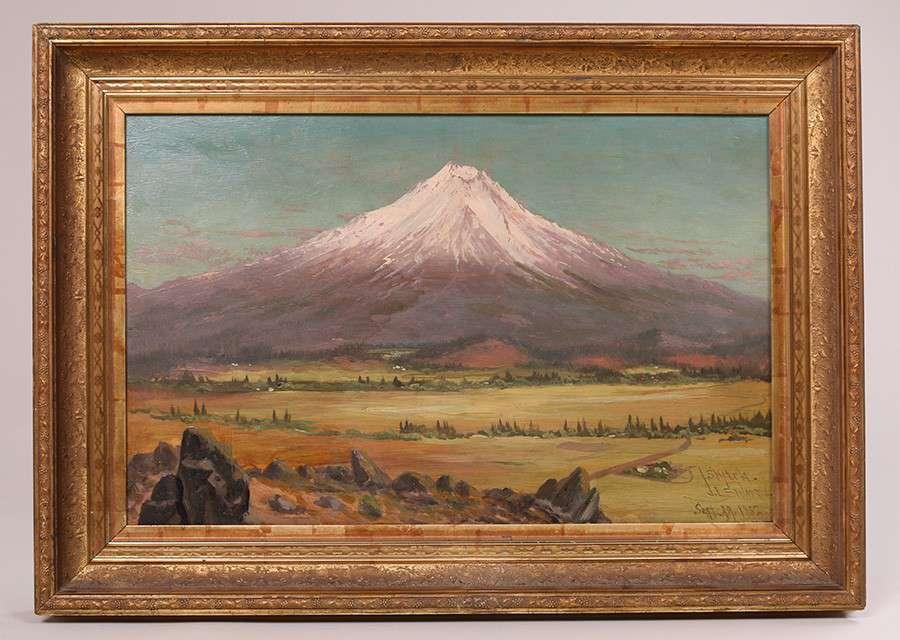 James Everett Stuart Oil Painting Quot Mt Shasta From The West California Quot California Historical
