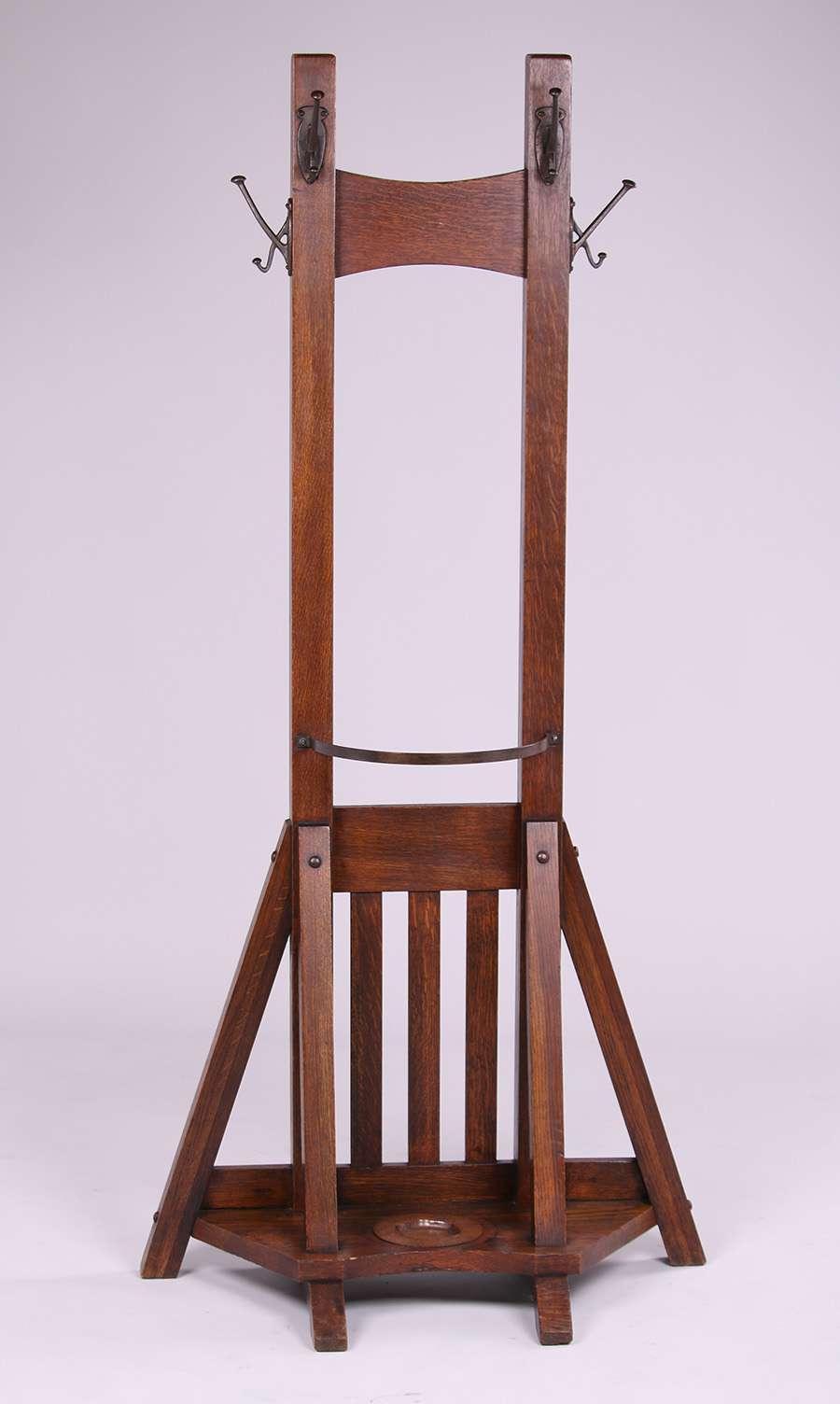 Grand Rapids Bookcase Amp Chair Co Double Coatrack California Historical Design