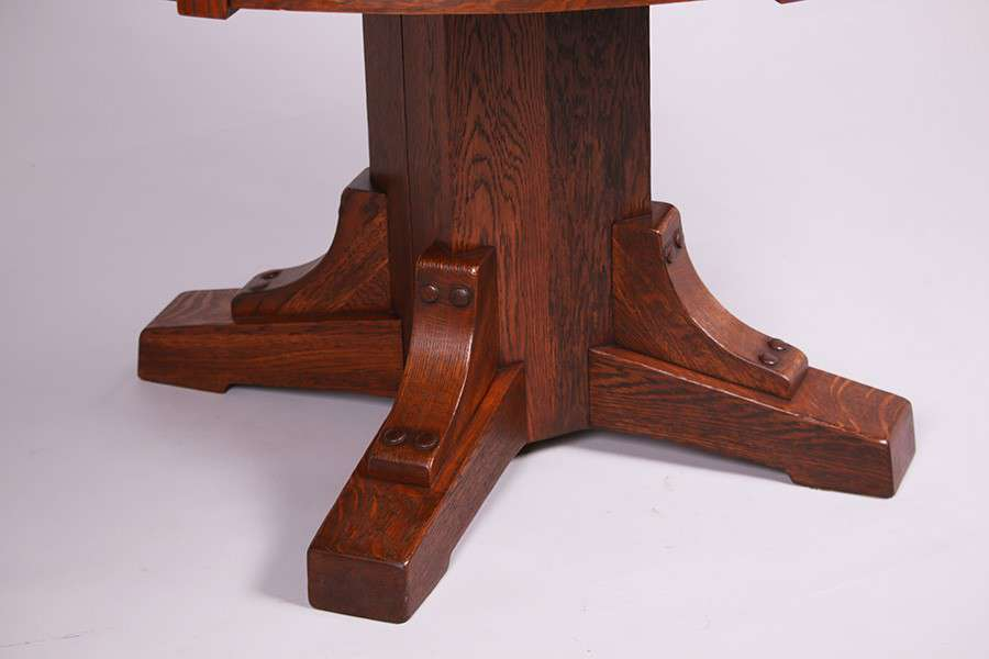 Stickley Brothers Pedestal Dining Table California