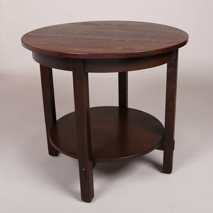 Large L Amp Jg Stickley Lamp Table California Historical Design