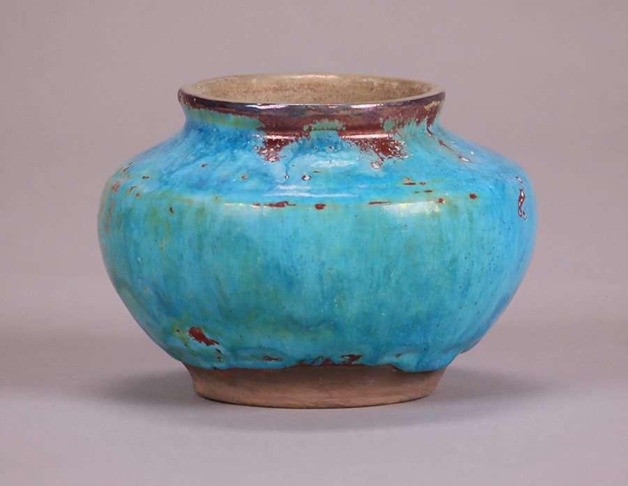 Pewabic Vase With Rare Signature California Historical Design