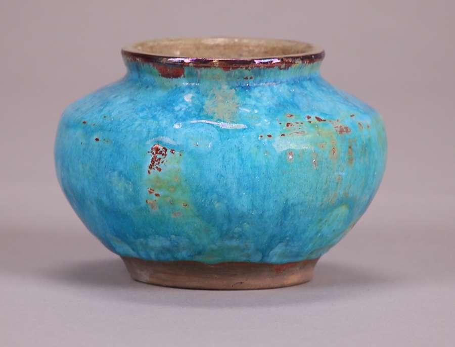 Pewabic Vase With Rare Signature California Historical