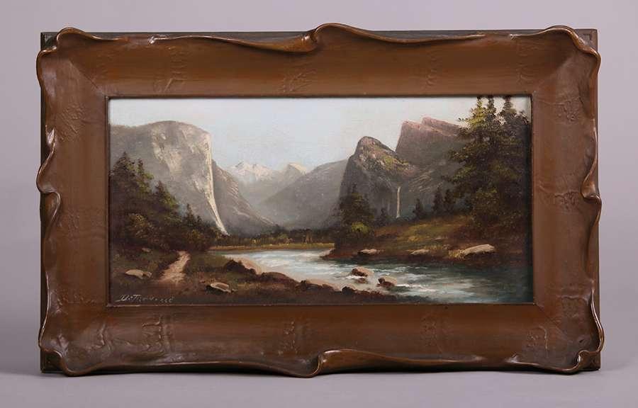 Richard Detreville Painting Of Yosemite Valley California Historical Design