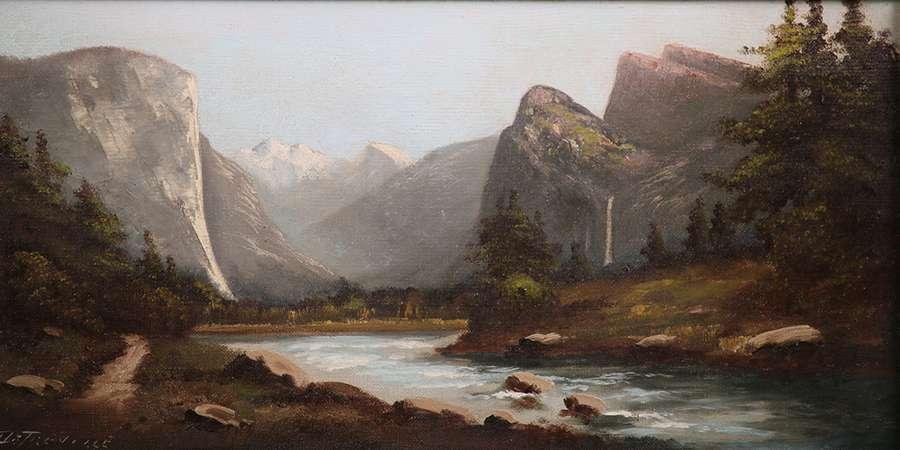 richard detreville painting of yosemite valley