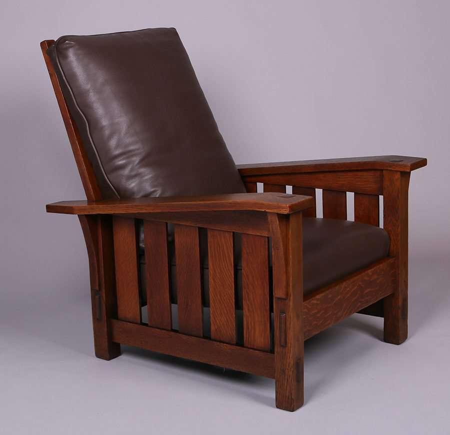 Mary Morris Chair Aerobics: Gustav Stickley #369 Bentarm Morris Chair