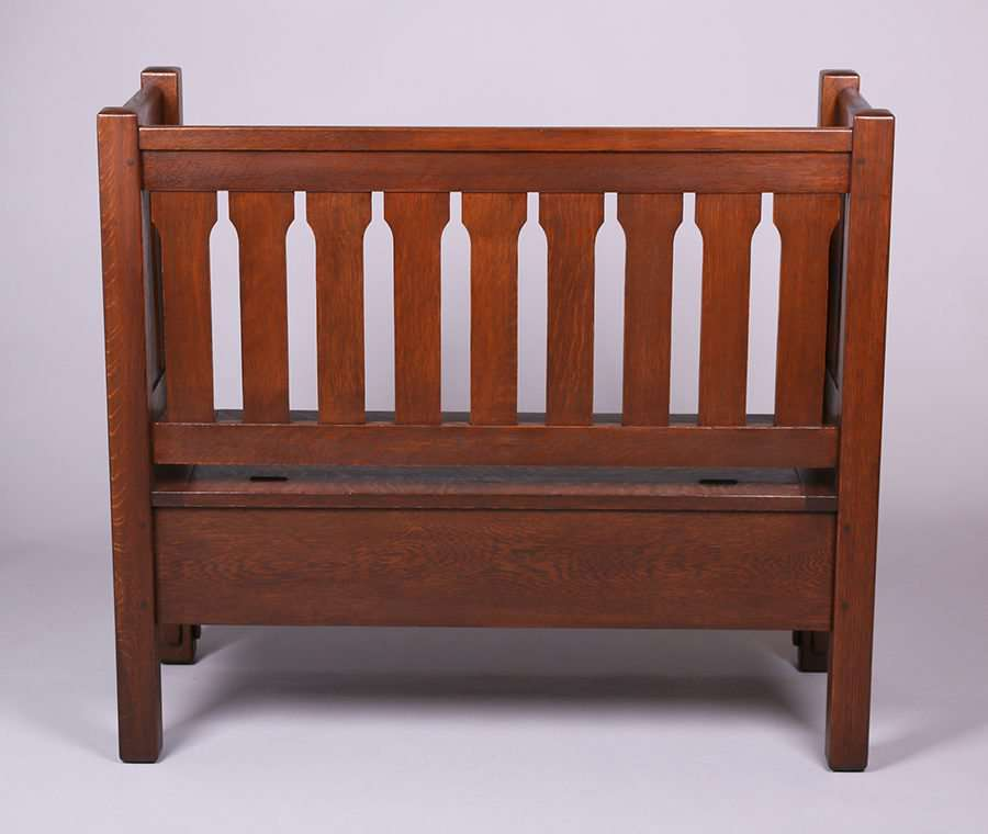 Superb Rare Ljg Stickley Evenarm Hall Bench California Inzonedesignstudio Interior Chair Design Inzonedesignstudiocom