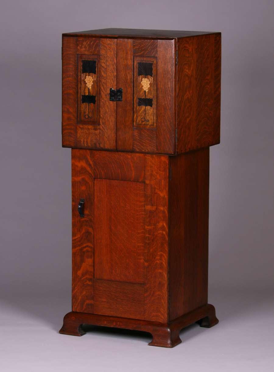 Work Van For Sale >> Gustav Stickley Harvey Ellis Inlaid Music Cabinet ...
