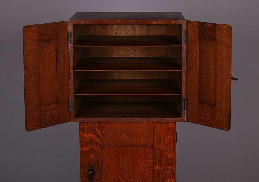 Gustav Stickley Harvey Ellis Inlaid Music Cabinet