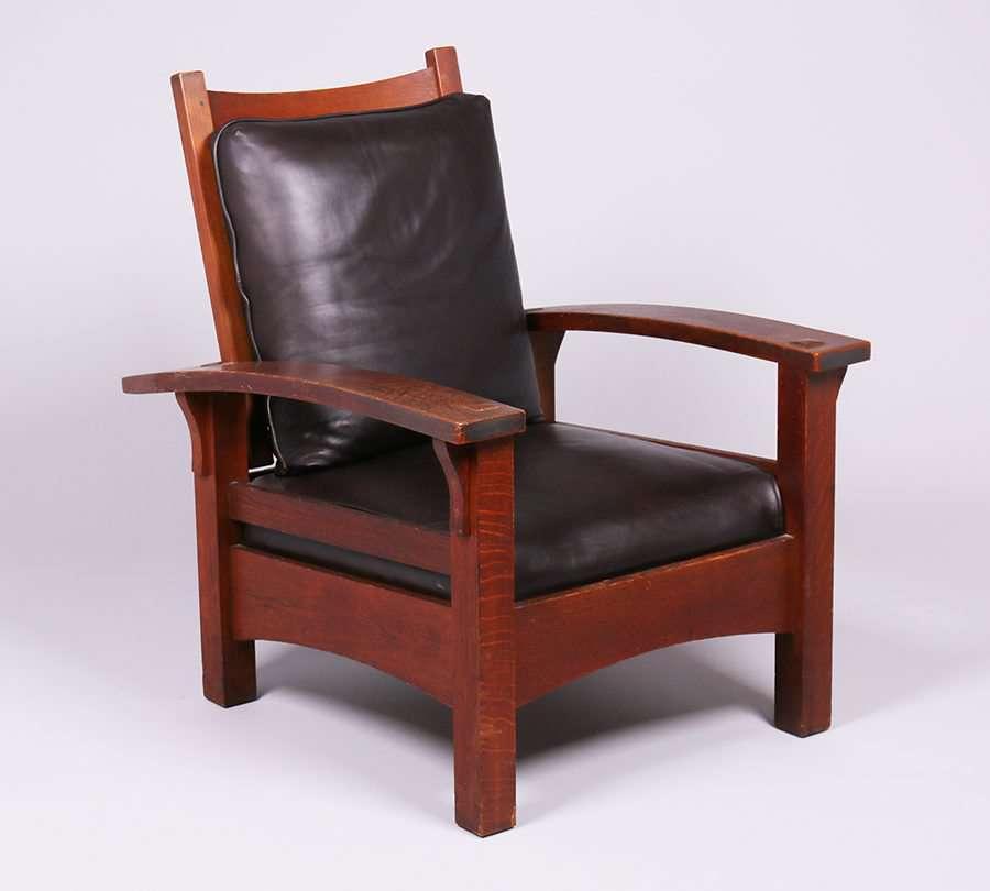 Mary Morris Chair Aerobics: Gustav Stickley Bowarm Morris Chair