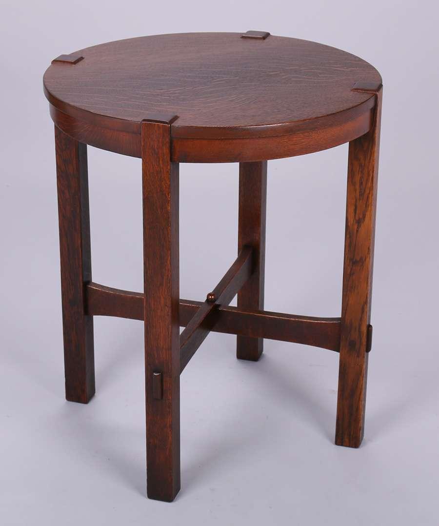 Early Gustav Stickley 436 Lamp Table C1902 California