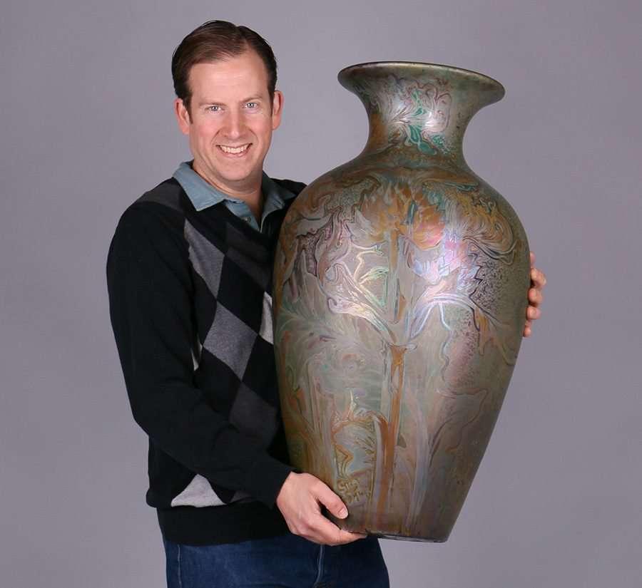 Huge Weller Sicard Vase 30 Quot H California Historical Design