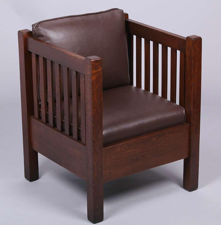 Manual Arts Mission Oak Cube Chair C1910 California