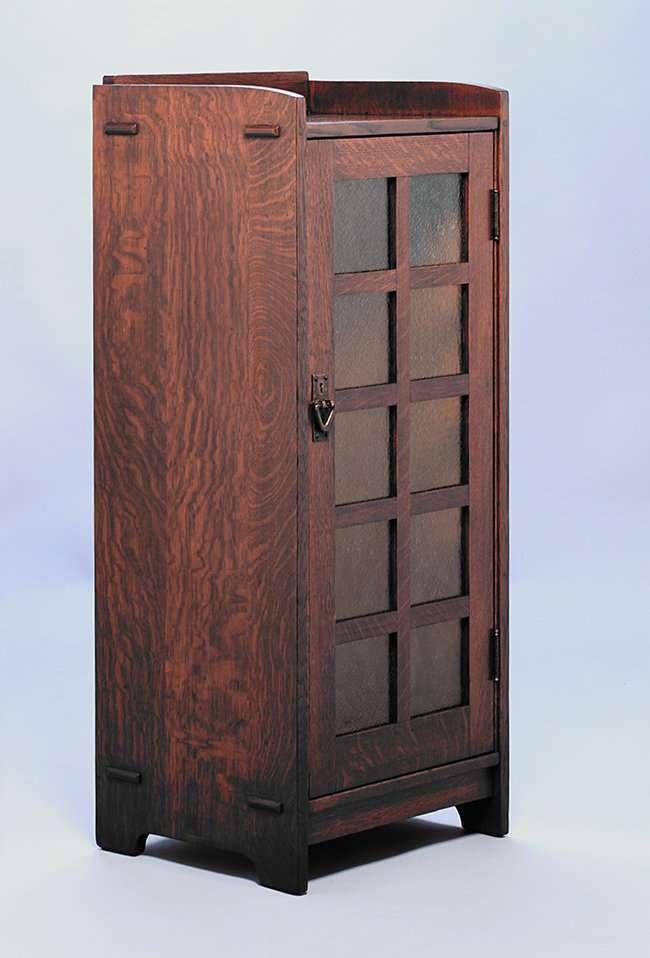 Gustav Stickley One Door Music Cabinet California Historical Design