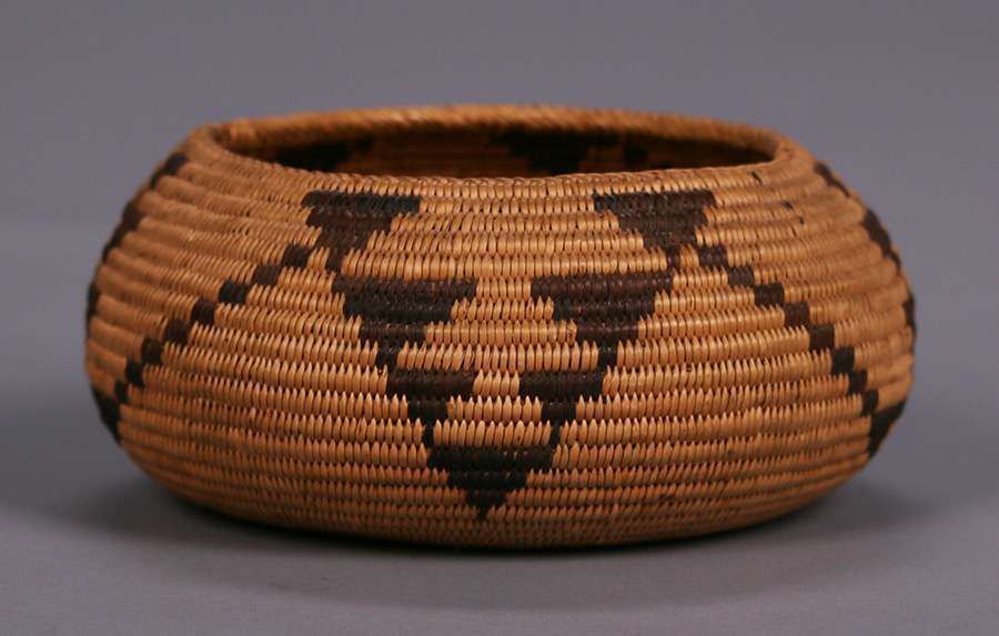 Native American Indian Basket Mono Lake Paiute C1920s California Historical Design
