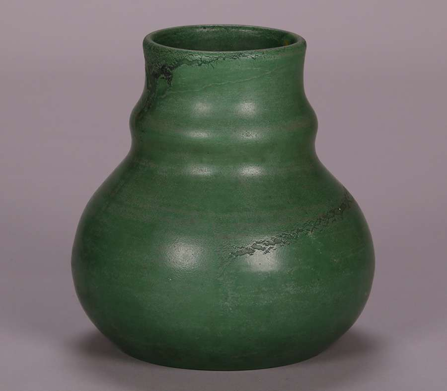 Large Wheatley Matte Green Vase California Historical Design