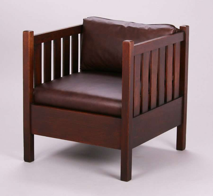 Gustav Stickley Cube Chair 335