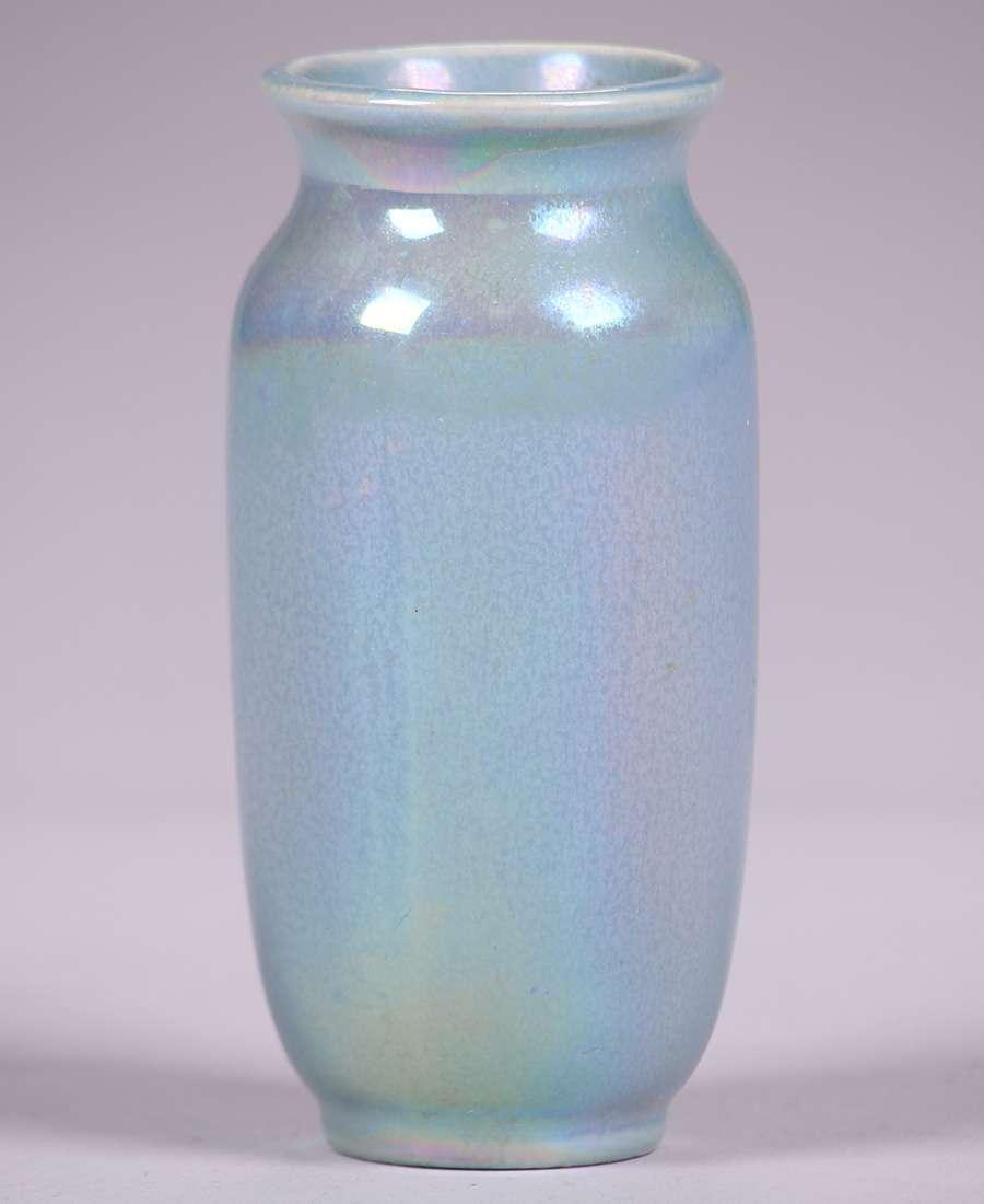 Cowan Pottery Light Blue Luster Glaze Vase California Historical Design
