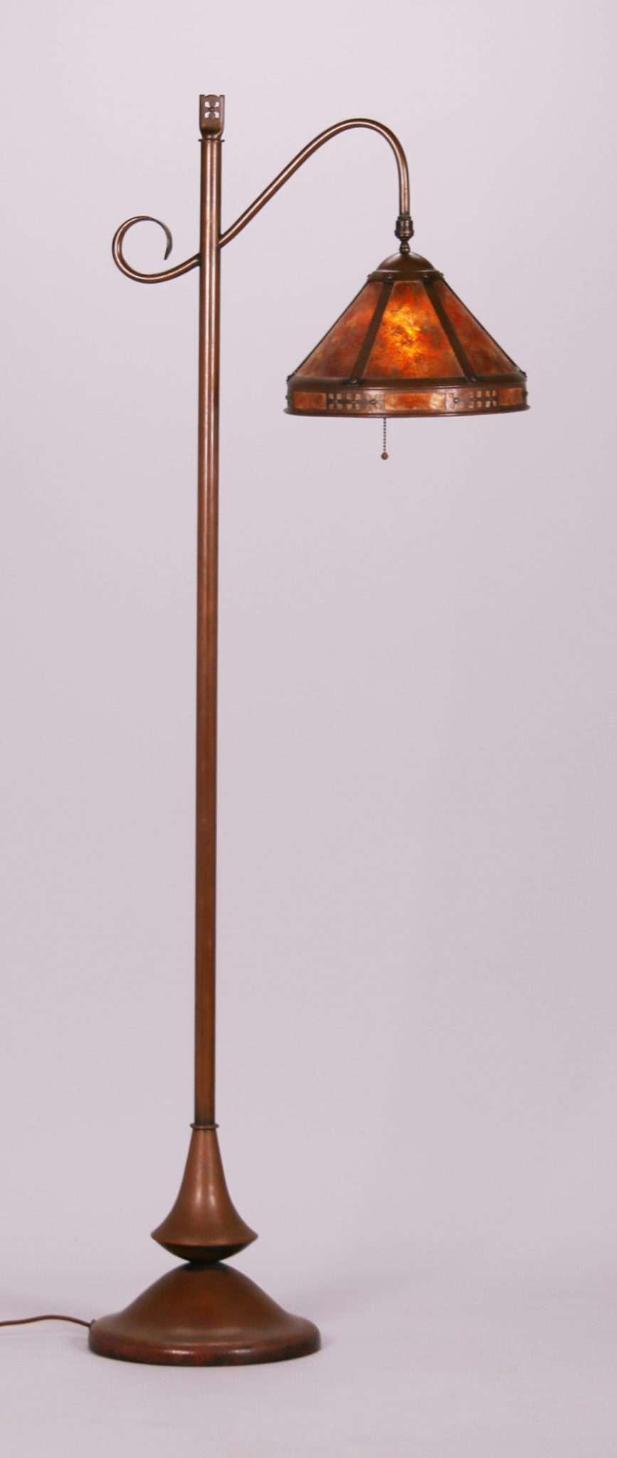 Dirk Van Erp Hammered Copper Amp Mica Floor Lamp C1915