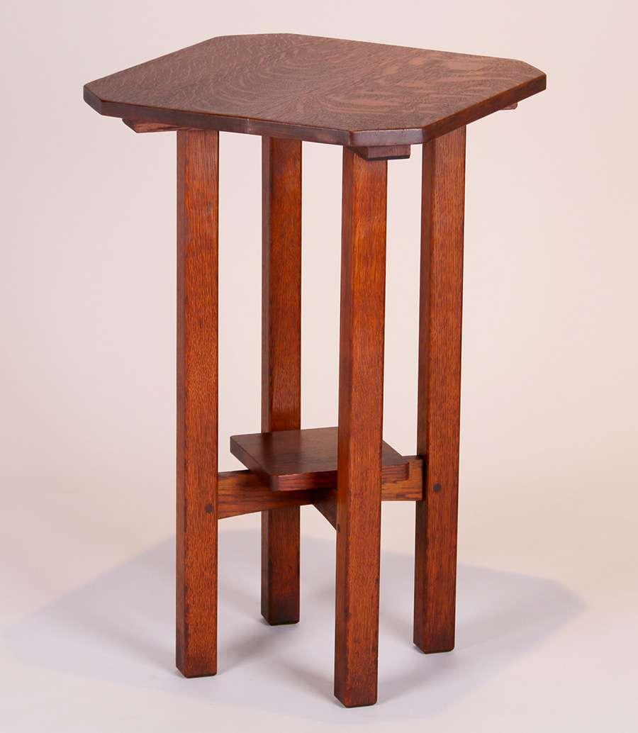ljg stickley clip corner lamp table 3
