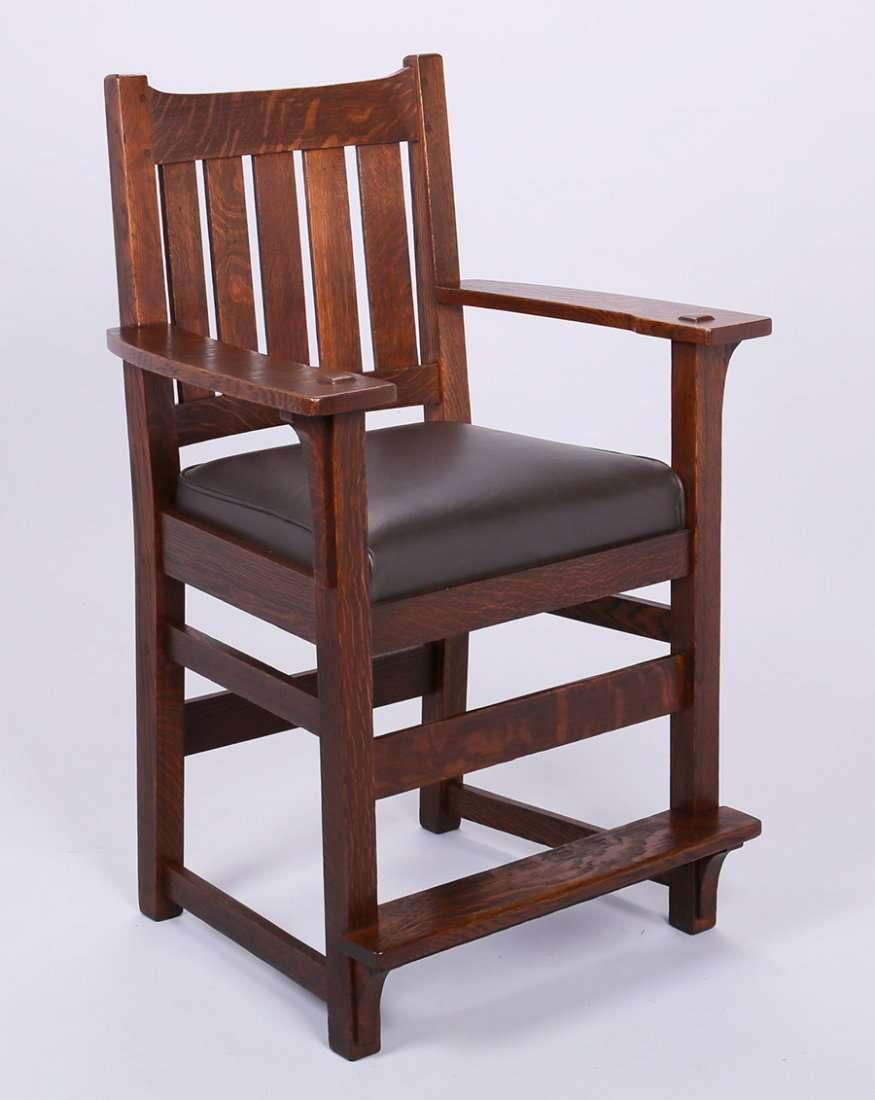 Lu0026JG Stickley Billiard Chair