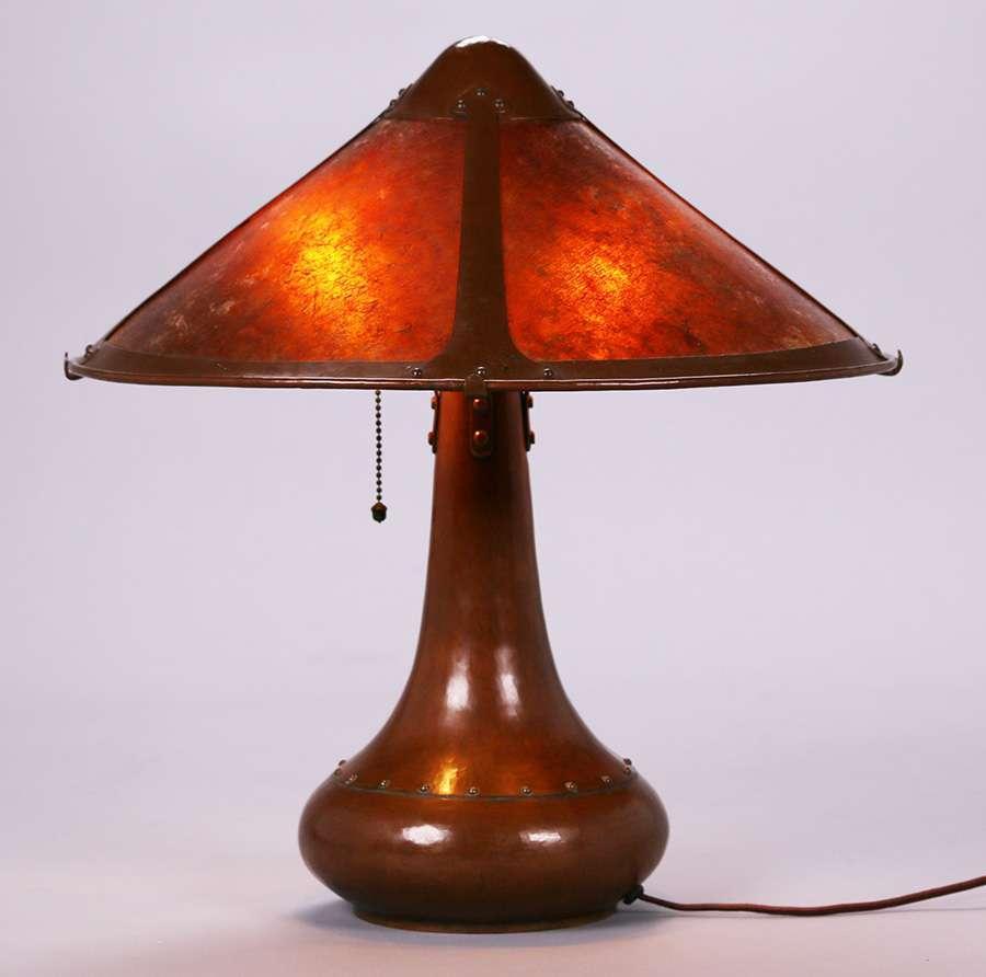 Dirk Van Erp Rivetbase Lamp C1913 1914 California