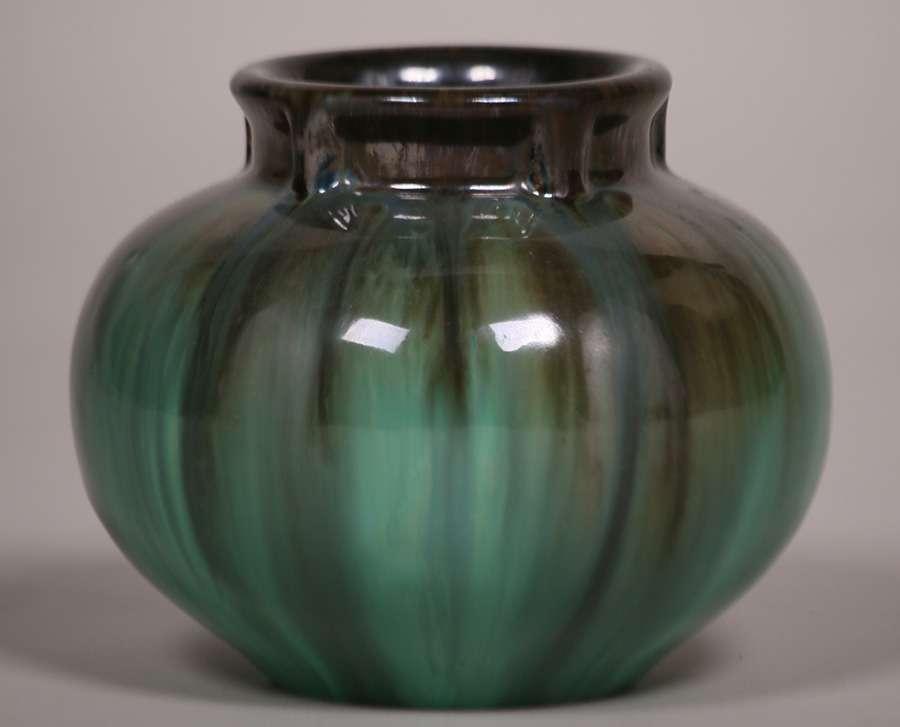 Fulper Pottery Spherical Vase California Historical Design