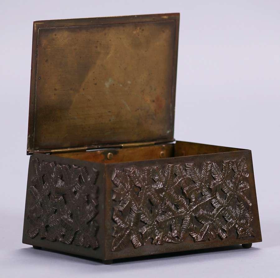 Arts Amp Crafts Bronze Elk Box C1910 1920 California Historical Design