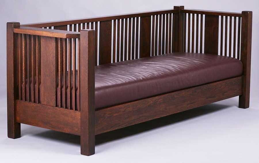 Brooks Furniture Co Evenarm Spindled Settle California