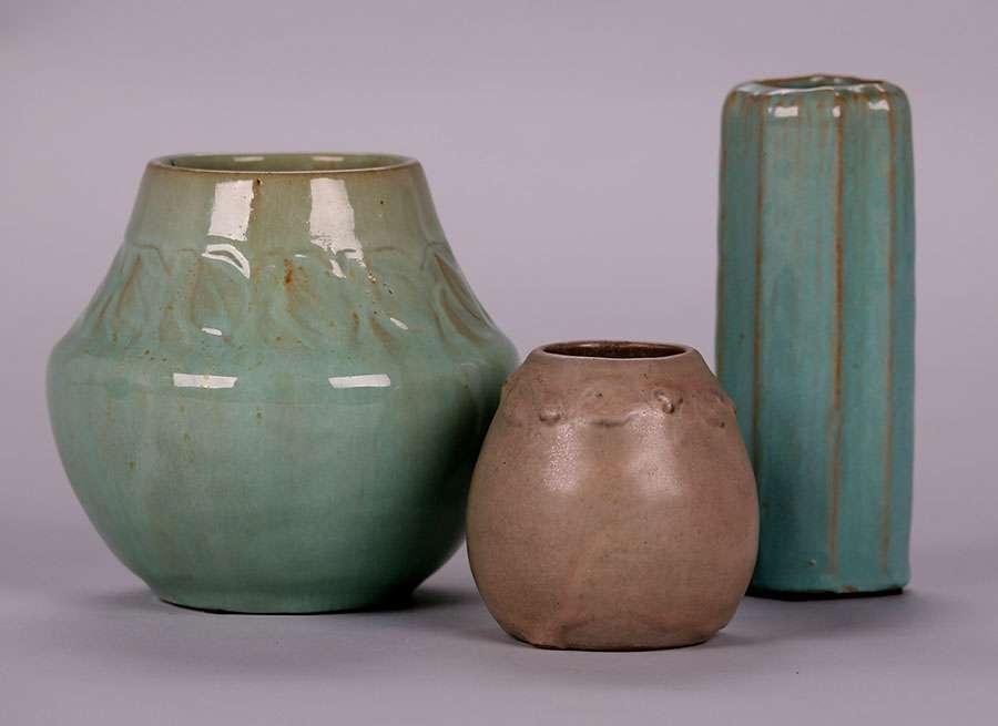 3 Arequipa Pottery Vases California Historical Design