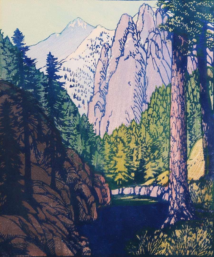 Frances Gearhart Woodblock Print Quot Wilderness Quot California