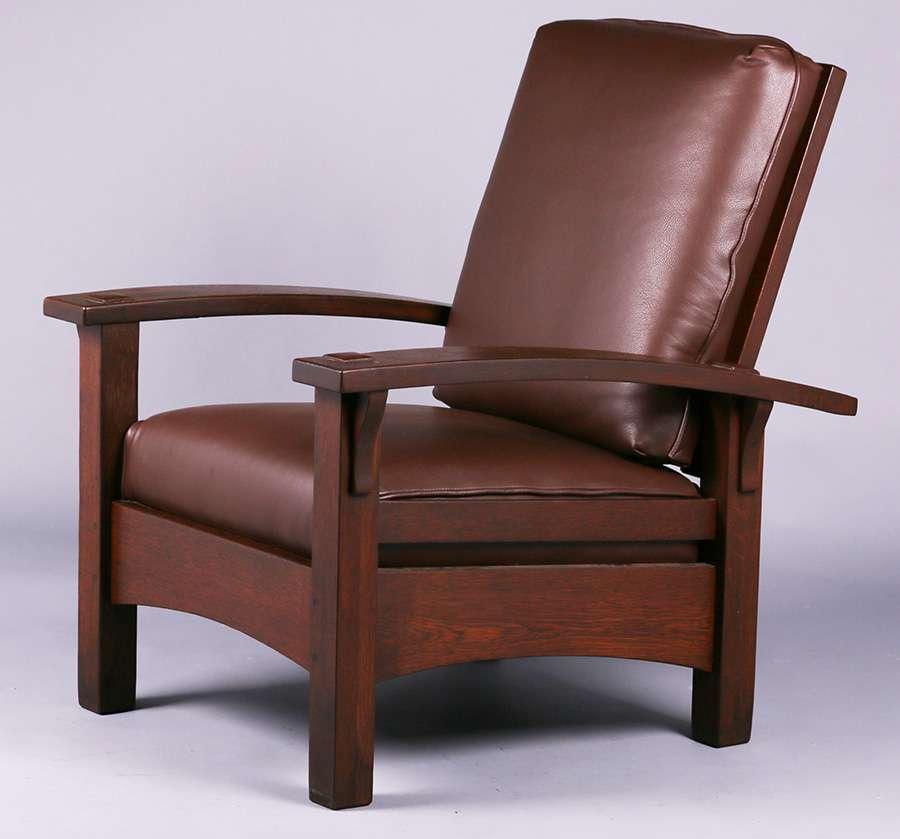 Mary Morris Chair Aerobics: Gustav Stickley Bowarm Morris Chair C1907-1910