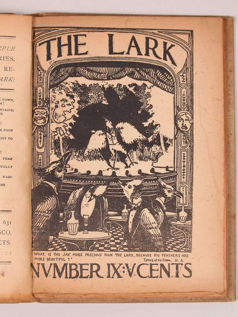 The Lark Books 1 Amp 2 C1895 1897 California Historical Design