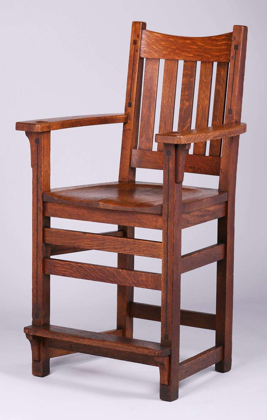 Limbert Ebon Oak Billiard Chair