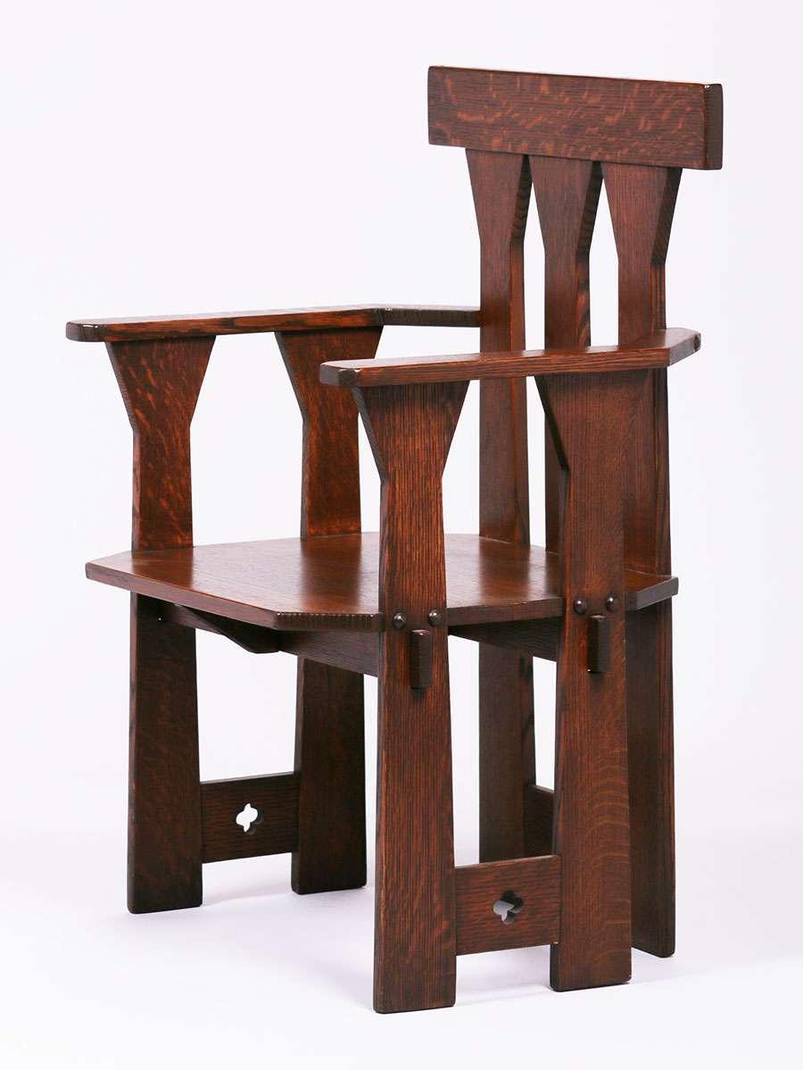 Bernard Maybeck Influenced Bay Area Arts Amp Crafts Armchair