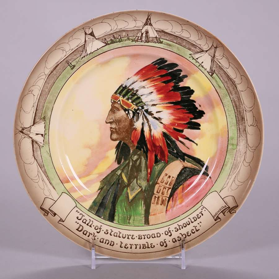 Royal Doulton Hiawatha Native American Plate | California Historical ...