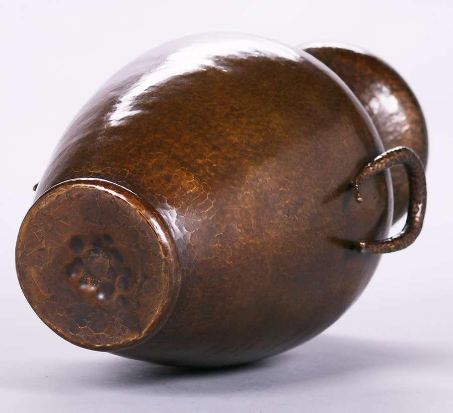 Lot 457 Large Stickley Brothers Hammered Copper Vase 310