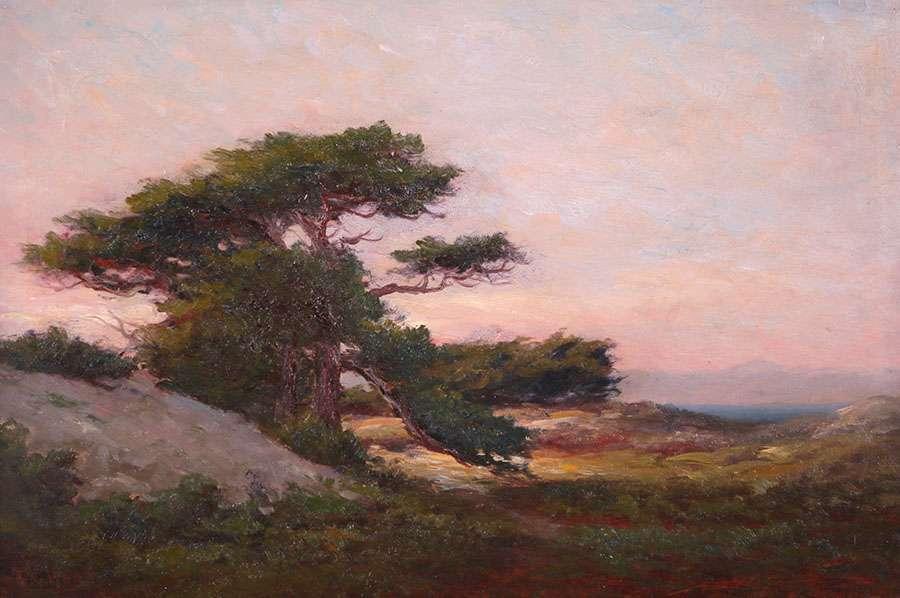 Lot 517 Frank Lucien Heath Painting Of Santa Cruz